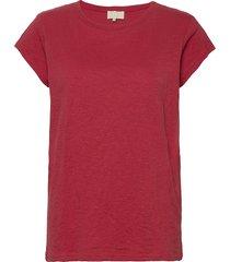 leti tee t-shirts & tops short-sleeved röd minus