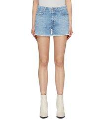 'gracie' frayed cuff denim shorts