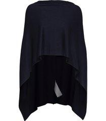 fqclaudisse-s-cape poncho regnkläder blå free/quent