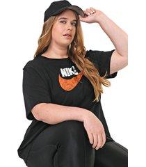 camiseta nike sportswear w nsw jdiy  preta - kanui