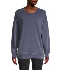 marc new york performance women's drop-shoulder sweatshirt - midnight - size l