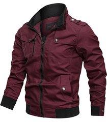 chaqueta tipo militar piloto hombres algodon 226-c03 vinotinto