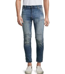 g-star raw men's skinny button-fly jeans - worn blue - size 36 30