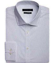 tommy hilfiger navy dot slim fit dress shirt