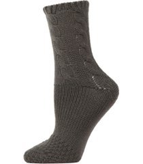 cable sweater knit women's crew socks