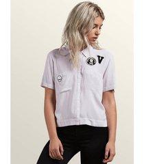 overhemd volcom women's stone resort ss shirt lpu