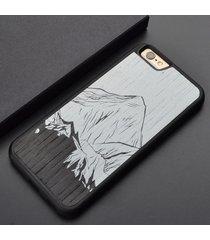 natural landscape color printing wood phone case  for iphone 6 6s plus7 7plus