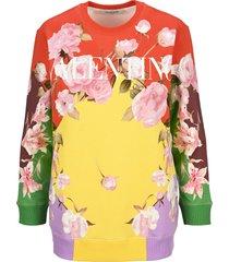 valentino floral-print logo sweatshirt