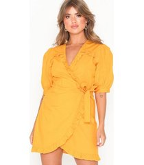 nly trend wrap blouse dress loose fit dresses gul