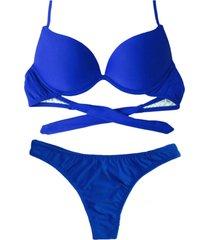 biquíni bojo bolha alça estreita divance azul bic calcinha fio dental