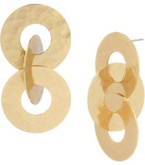 robert lee morris soho circle link statement earrings