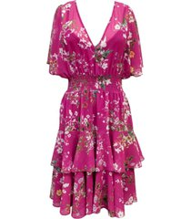 taylor floral-print blouson dress