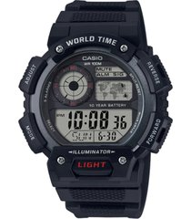 casio men's digital black resin strap watch 45mm