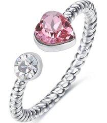 anillo ajustable love plata pink vanité