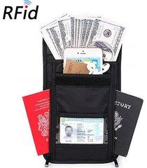 borsa a tracolla multifunzionale da viaggio in passaporto da viaggio per uomo e donna anti-furto in nylon