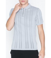 river island ss zip neck polo t-shirts & linnen grey