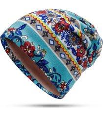 cappello beanie flower da donna outdoor riding ski plus sciarpa multifunzione con cappuccio caldo in cashmere