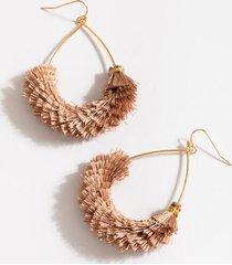 kaia layered tassel teardrop earrings - mauve