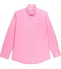 camisa casual manga larga textura regular fit para hombres 93469