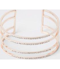 river island womens rose gold colour cuff bracelet