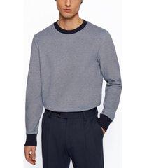 boss men's cotton-blend sweatshirt