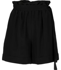 federica tosi high waisted belted shorts - black