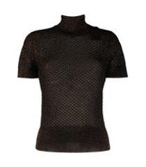 dolce & gabbana blusa de tricô com aplicação de brilho - preto