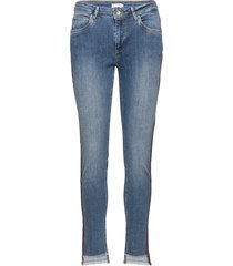 jeans - relaxed fit, ankle lenght w. little flare and stripe rechte jeans blauw coster copenhagen