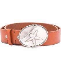 golden goose star western-style buckle belt - brown