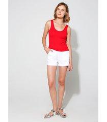 shorts con bolsillos en algodón