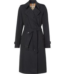 burberry the chelsea trench coat - blue
