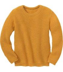 gebreide pullover, geel 134/140
