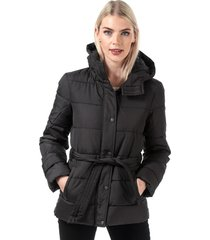 womens sue padded belted jacket