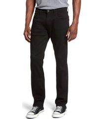 men's big & tall paige federal slim straight leg jeans, size 44 - black