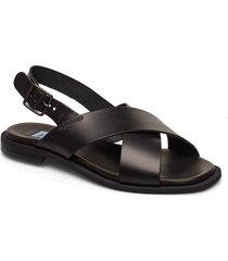 cross classic square shoes summer shoes flat sandals svart apair