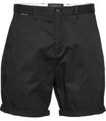 mid length - classic chino short in pima cotton quality shorts chinos shorts svart scotch & soda