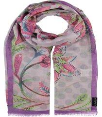 women's dotted blossom scarf