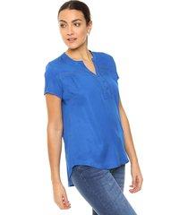 blusa azul etam gibraltar