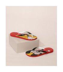 chinelo havaianas masculino disney stylish mickey estampado vermelho