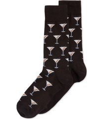 hot sox men's socks, martini crew