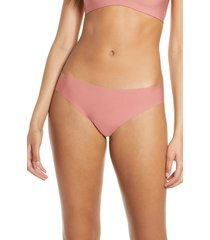women's commando 'butter' stretch modal thong, size x-small - brown