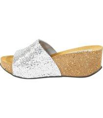 sandalia faja glitter plata mailea