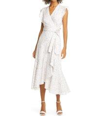 women's rebecca taylor zadie floral wrap dress, size 0 - white