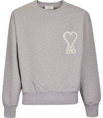 ami alexandre mattiussi logo patched sweatshirt