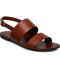 tia shoes summer shoes flat sandals brun vagabond