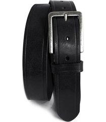 men's boconi embossed leather belt, size 38 - black