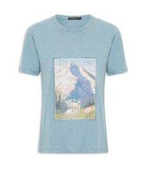 camiseta feminina winterland - azul