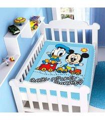 cobertor infantil jolitex raschel mickey e don azul - kanui