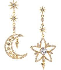 eye candy la women's luxe goldplated & crystal statement dangling earrings