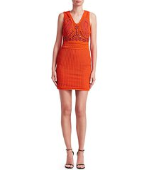 crochet embroidered bodycon dress